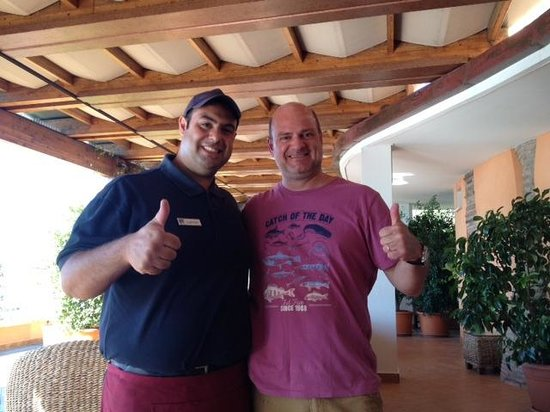 Panoramic Hotel: Husband Stewart with Grabriele