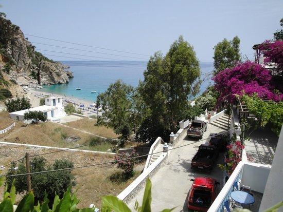 Blue Waves Studios : Θέα από το μπαλκόνι