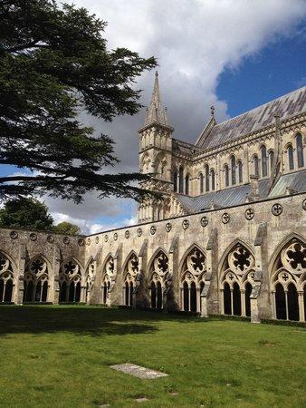 Salisbury Cathedral and Magna Carta: Una vista del chiostro.