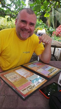 The Point Sports Bar & Grill: My hubby, who was soo happy to order his lunch meal here! We were hungry!