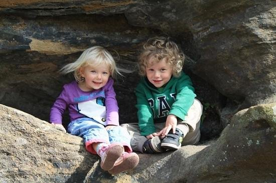 Brimham Rocks: found a ledge to pose on