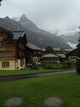Hotel Bellevue: View from right outside our room (feels more like a cabin or ski lodge)