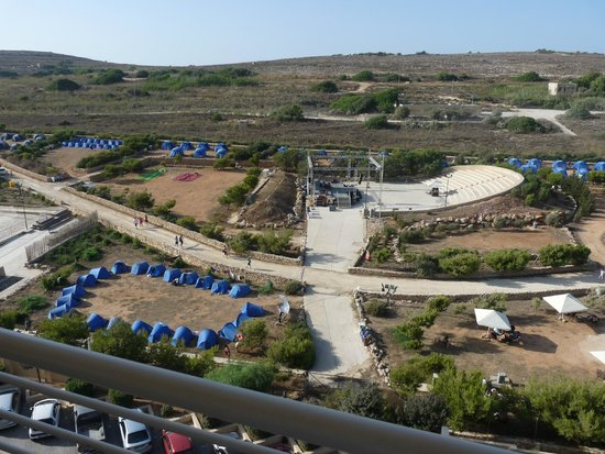 Radisson Blu Resort & Spa, Malta Golden Sands: View from room of youth festival