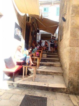 cafe in front of hotel slavija