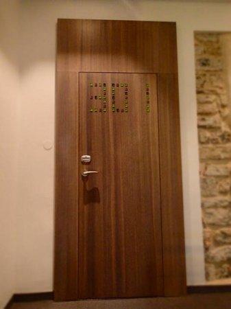 Hotel Slavija: even the room sign looks cute