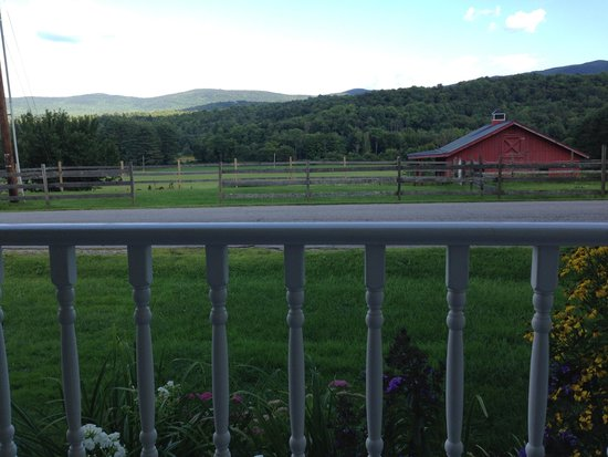 Yellow Farmhouse Inn: View from the front porch rockers