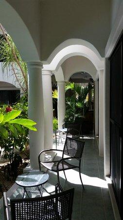Hacienda Paradise Boutique Hotel by Xperience Hotels: Vista dalla camera al pian terreno