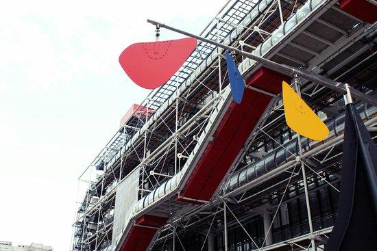 Centre Pompidou: La struttura esterna