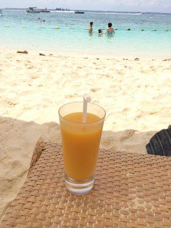 Shangri-La's Mactan Resort & Spa : マンゴージュースおいしかった