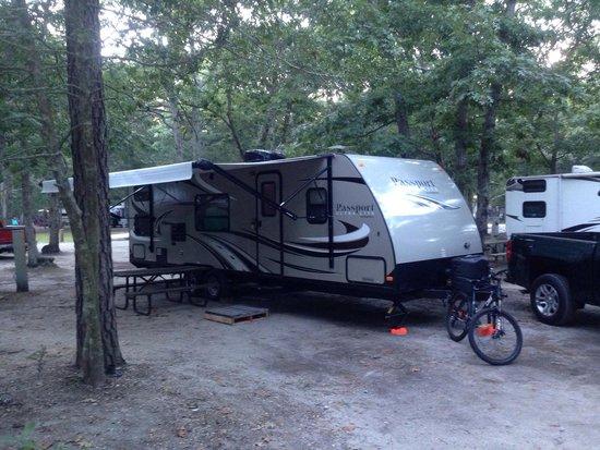 Sea Pines RV Resort & Campground: Happy Camper!