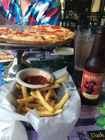 Chianti Room: pepperoni pizza and fries