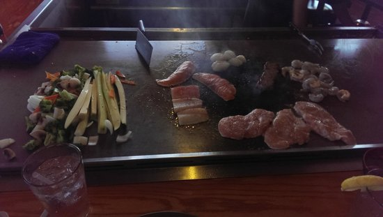 Oyama Sushi: Food on the grill