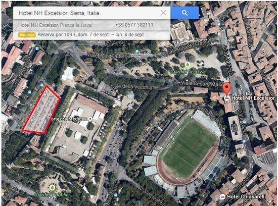 NH Excelsior: Parking gratuito