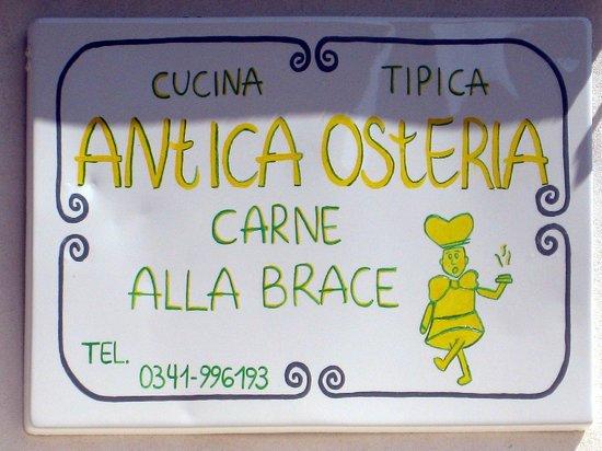 Antica Osteria: L'insegna