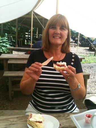 Falling Foss Tea Garden and Waterfall : cream scone anyone?