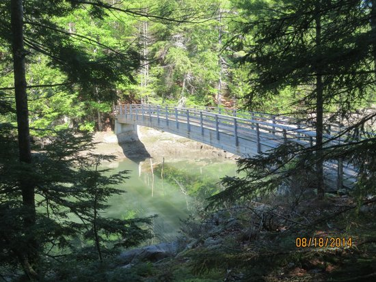 Oven's Mouth Preserve: bridge separates east from west