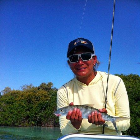 El Pescador Resort : Bonefish on fly - Day 1
