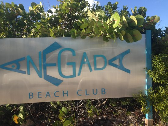 Anegada Beach Club: la entrada