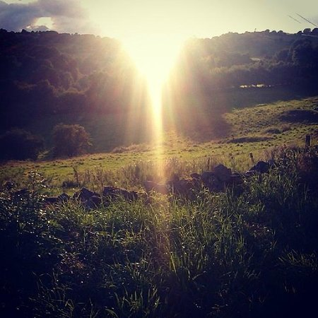 Townhead Farmhouse Bed and Breakfast: Evening Stroll & Sun setting over the hills by Bonsall