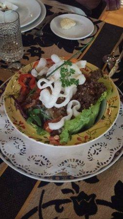 Samsara: duck salad