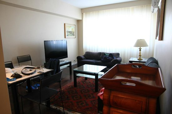 Sunset Suites: living room of rm 302