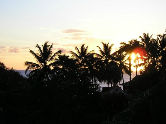 Oasis Marigot: Evening from West-Facing Bungalow Balcony