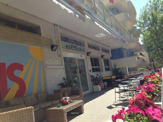 Hotel Santiago : La veranda