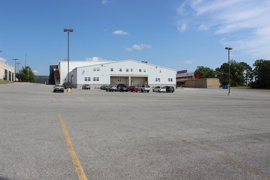 Clay Cooper Theatre: Back of theatre and flat parking lot!