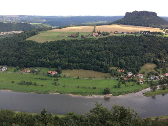 Festung Königstein: Panorama from the fortress