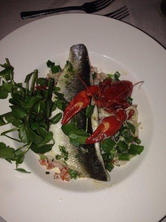 The Halfway Inn: Sea bass and cray fish pasta