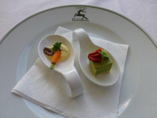 Castel Fragsburg: Gruß aus der Küche zum Aperitif