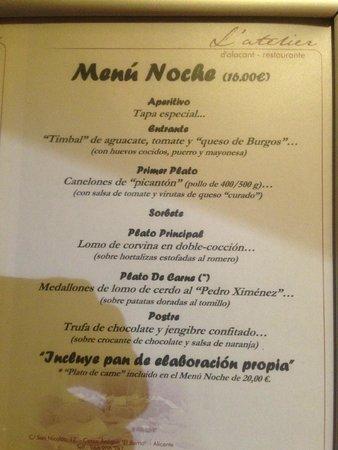 L'Atelier: The 16 euro menu