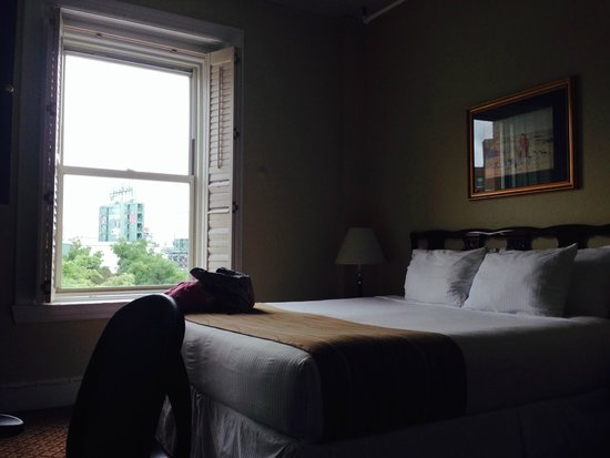 Boston Hotel Buckminster: King bed, small room, great view