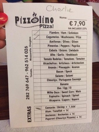 Pizzolino: Tick your preference