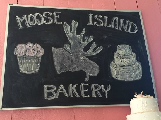 Moose Island Bakery: bakery sign