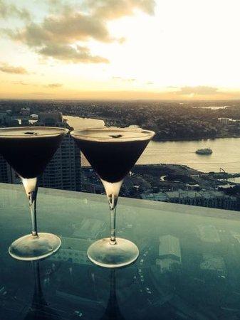 Blu Bar On 36: espresso martinis 36 floors high