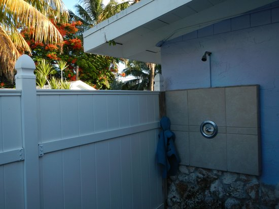 Tropical Cottages: View from the outside toilet