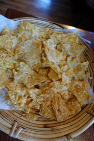 Calactus Restaurant: Faux cheese nachos