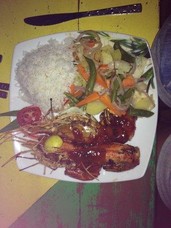 Nissan Hotel & Restaurant: Crevettes géantes