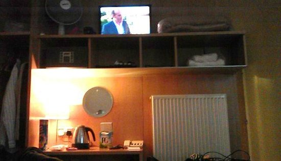 St Giles London - A St Giles Hotel: TV needs a tiltable mount - as viewed from bed