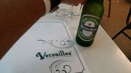 Versailles Restaurant : Beer of the night!