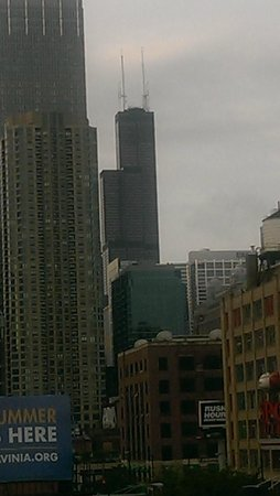 The Godfrey Hotel Chicago: Day view from the balcony, Willis Tower in distance