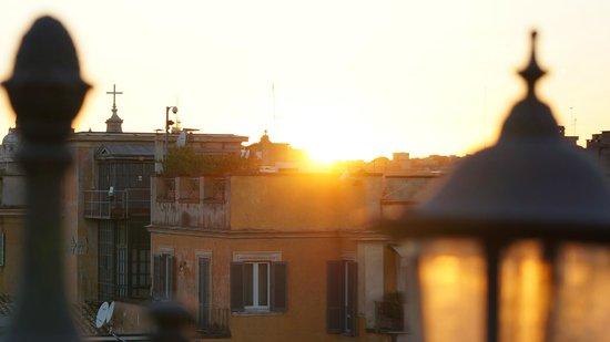 Albergo del Senato : Sunset on the roof terrace