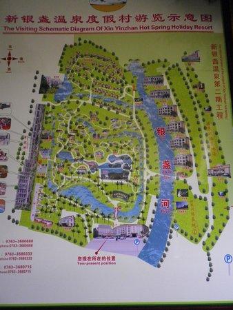 Xinyinzhan Hot Spring Holiday Resort: 館内案内図