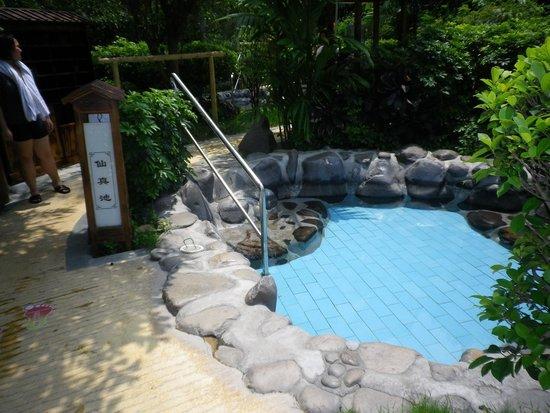 Xinyinzhan Hot Spring Holiday Resort: 露天風呂