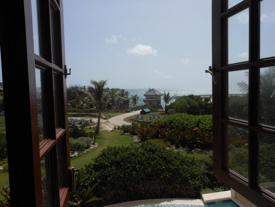 The Crane Resort: view from room 1205 of lift to the beach
