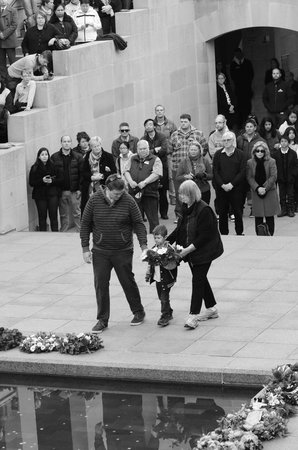Australian War Memorial: Our family participating in the Last Post Ceremony