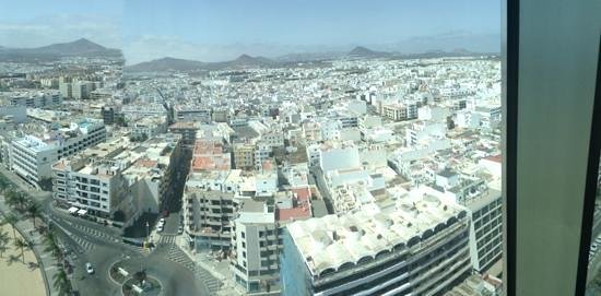 Be Live Experience Lanzarote Beach: view of Areciffe from the 17th floor