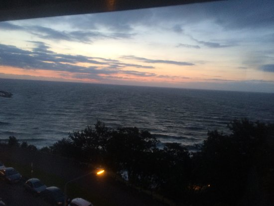 The Crown Spa Hotel: Sunrise from sea view junior suite