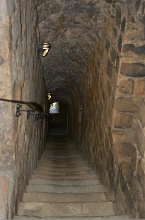 Richmond Castle: Some of the 140 plus stairs to the top of the keep
